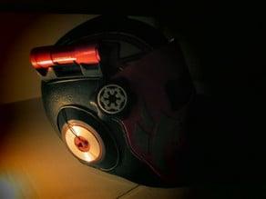 Voltax flashlight helmet mounted support