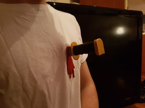 Halloween Stabbing Knife (Wearable) for Halloween 2017