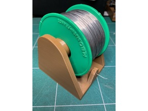 Soldering spool holder without support