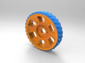 Wheel for Printbots (designed for 20g servos)