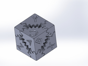 Cube Gear SolidWorks (with text)