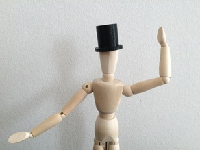 Wooden Mannequin Top Hat