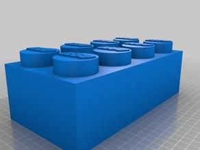 Lego brick tissue box