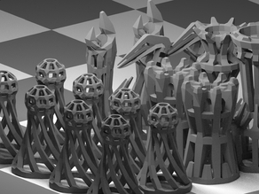 WireFrame Chess Set (2.0)