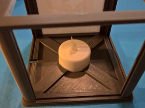 Tealight base for Lithophane Lamp Structure