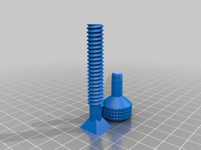 Screw rotated for easier printing