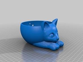 Yarn bowl Star Hen's Sad Cat version