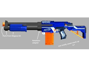 Nerf Retaliator Shotgun Adapter