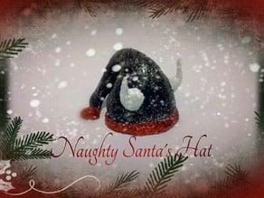 Naughty Santa's Hat Christmas Decoration