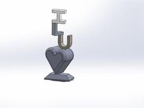 Valentines desktop stand