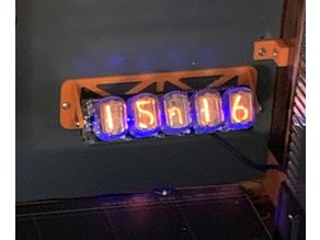 Wall Mount for Lasermad 5-tube Nixie Clock