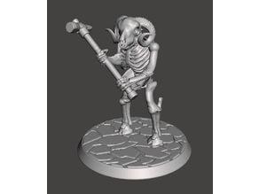 Skeleton Beastman Warriors - Melee Ram Ragers