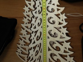 Laser cutted Christmas tree