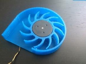 conversion axial fan for radial fan