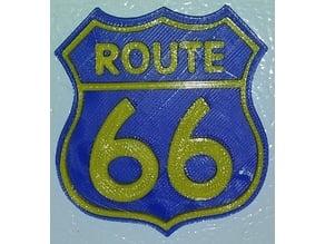Route 66 Fridge Magnet / Ornament IEC3D