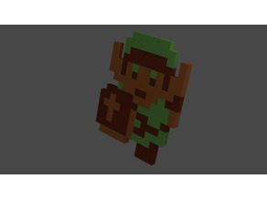 Classic Pixeled Link Keychain from Zelda