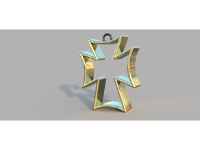 Sigma Chi Cross Christmas Holiday Ornament