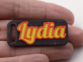 Customized HD Font Keychain (Lydia 2)