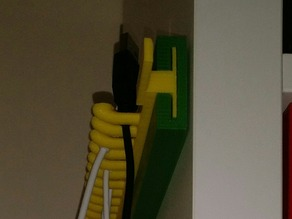USB cable hanger