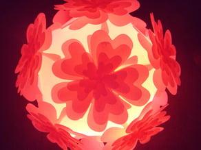 Icosahedron Puzzle Lamp Shade (II) Heart Shape Petals