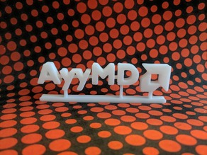 AyyMD logo with stand