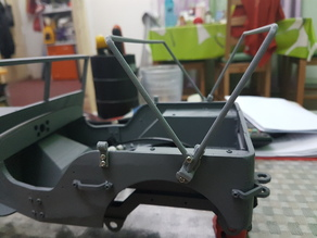 RC MB Jeep in 1:10 CANVASS ROOF RAIL