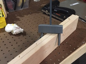 Tool to Find Middle of Lumber without Measuring