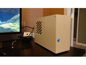HeroicMoose Mini-ITX case - full size graphics card