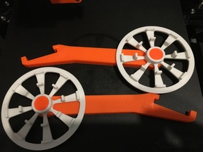 Prusa i3 MK2 - Filament Spool universal Wheel and One Piece Support