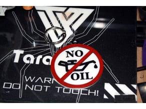 """No Oil"" Keychain Tag"