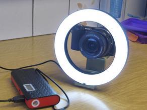 Sony A5000 macro ring light bracket