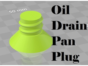 Oil Drain Pan Plug