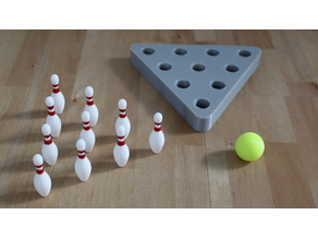 Table Bowling with 3D models from the game Bowling Online 2