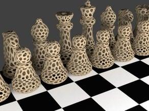 Chess Set - Voronoi Style