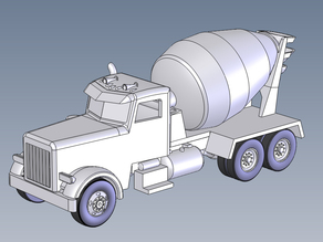 Cement Truck HO Scale