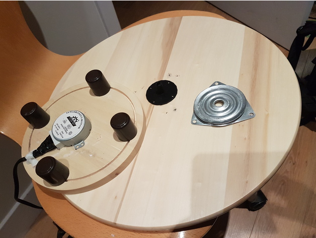 Ikea Lazy Susan Beauteous Coupling For Ikea Lazy Susan By Pinojunk Thingiverse