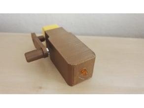 Simple Dynamo With Gear Motor