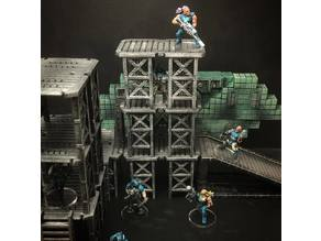 ScatterBlocks: Industrial Platforms (28mm/32mm scale)