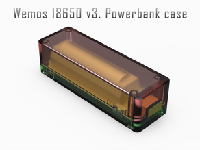 Wemos 18650 v3. Powerbank case