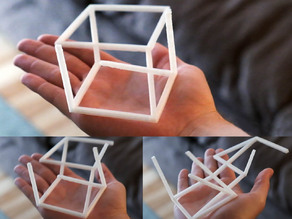 Anamorphic Optical Illusion - 3D Cube