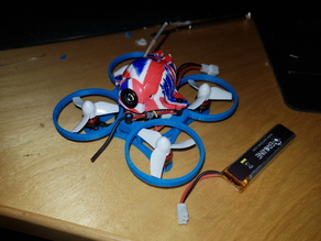 Minimalistic Whoop (Blade Inductrix clone, Brushless, Uruav, UK65, US65 65mm quad frame)