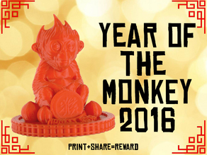 Red Monkey - Chinese New Year 2016