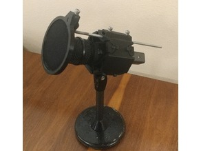 Table Top Shock Mount Microphone Stand with Pop Filter