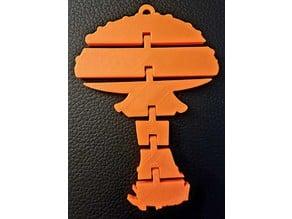 Articulated Mushroom Keychain