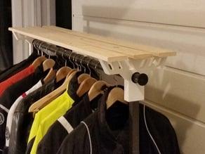 Hat shelf - extension for Ikea Portis rack