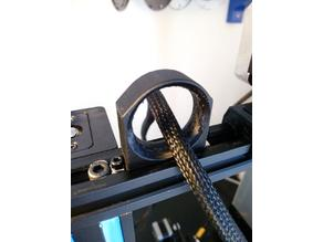 Clip-on Cable Guide for 2020 extrusion