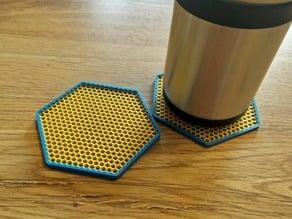 Honeycomb Patterned Hexagon Coaster