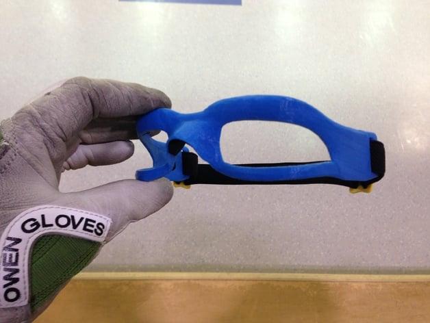 Handball Lense-less Goggles by AgentP - Thingiverse