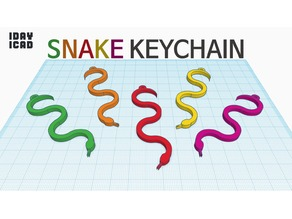 [1DAY_1CAD] SNAKE KEYCHAIN