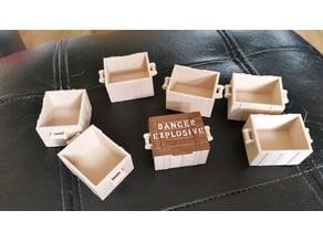 "Crate for Playmobil ""Danger Explosives"" lid"